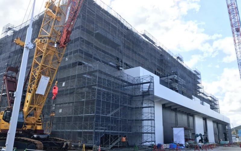 建設が進む山口市の産業交流拠点施設