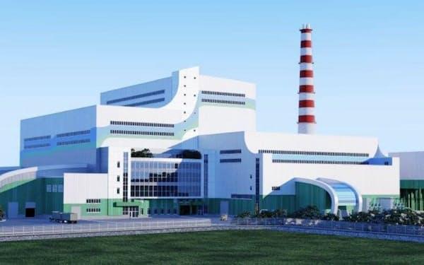 日立造船がロシアで建設するごみ焼却発電施設のイメージ