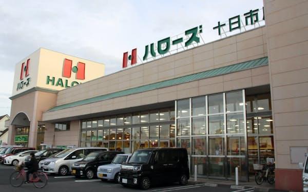 食品スーパーはコロナ下で大きく増収した(岡山市のハローズの店舗)