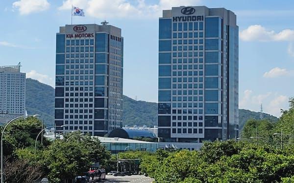 現代自動車と起亜自動車は双子の本社ビルを構える(ソウル市瑞草区)