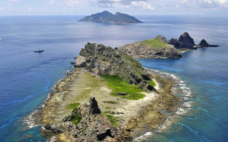 沖縄県の尖閣諸島(2012年9月)=共同