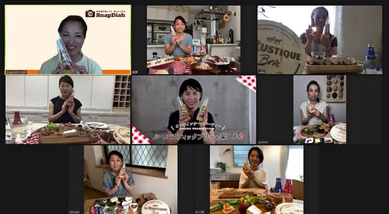 スナップディッシュの利用者を招き、オンラインで試食会を開催できる(8月に開いた国内イベントの様子)