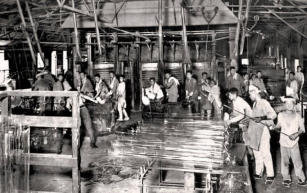 創業期の尼崎工場(現関西工場尼崎事業所)