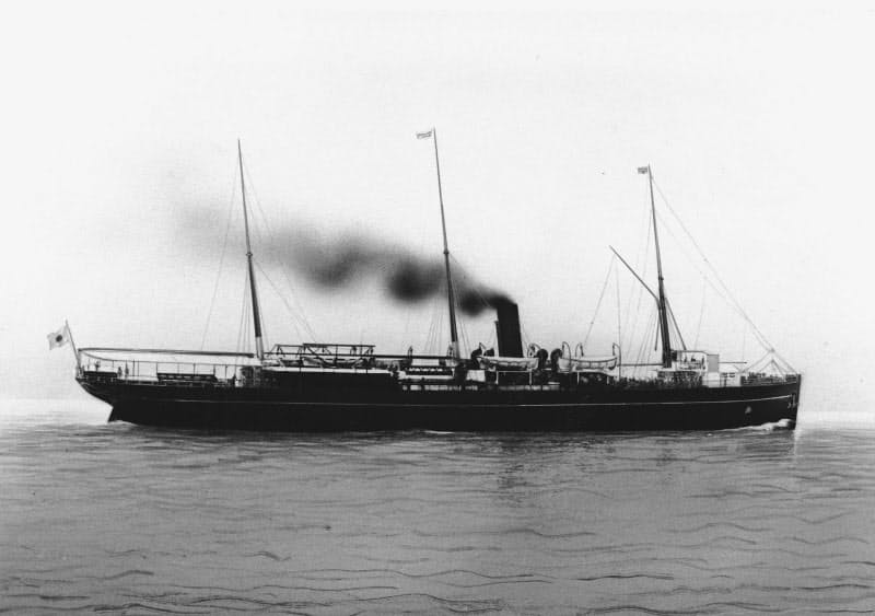日本郵船創業当初の社船「横濱(はま)丸」=日本郵船歴史博物館所蔵
