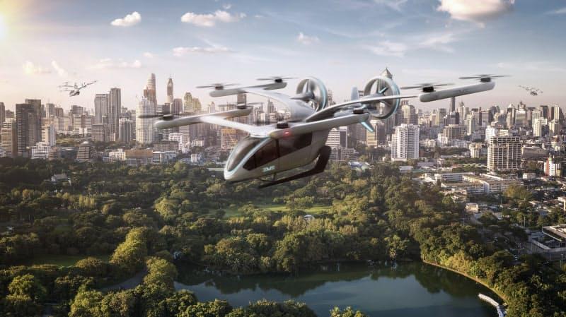 エンブラエルが公開した空飛ぶクルマのイメージ画像