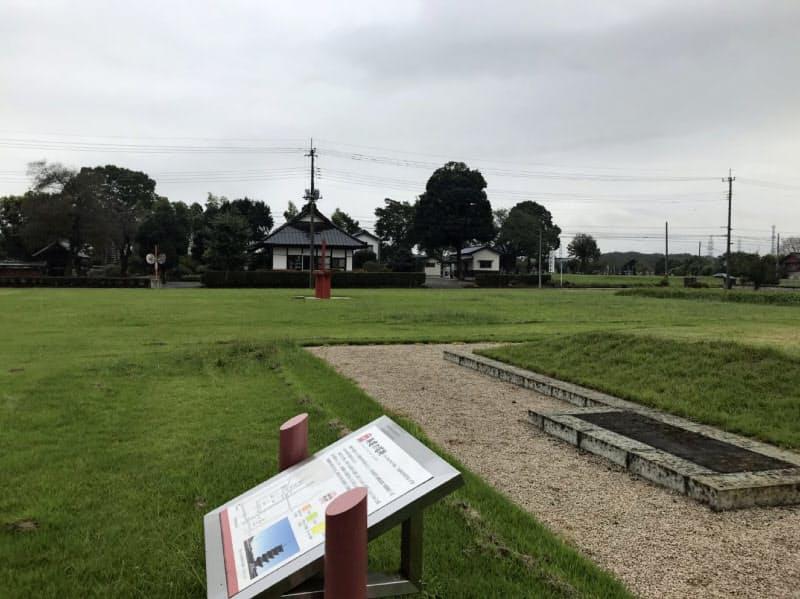下野薬師寺跡は国指定史跡になっている(下野市)