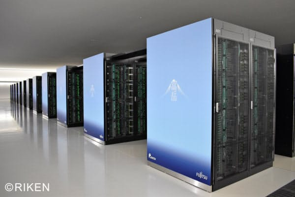 世界一を死守したスーパーコンピューター富岳=理化学研究所提供