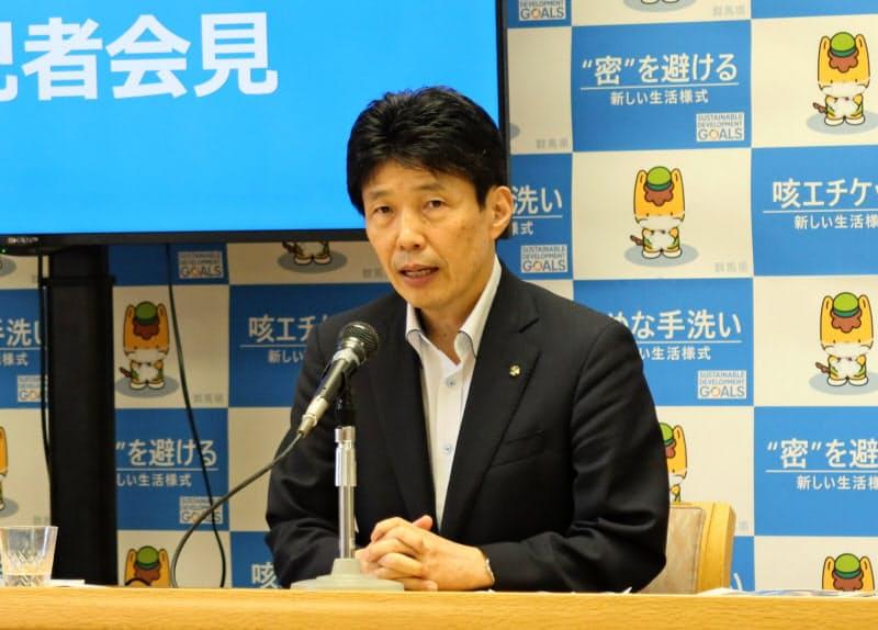山本知事は以前から魅力度ランキング調査へ不満を持っていた(写真は7月の記者会見の様子、前橋市)