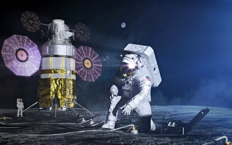 月面着陸をめざす米国の探査計画に日本も参加する(NASA提供)