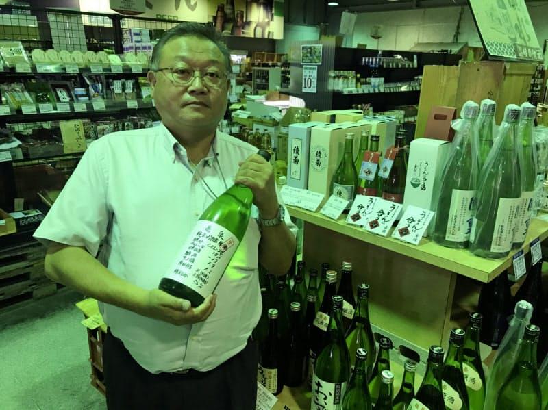 佐藤さんは四国の穴場スポットを酒蔵やダム、温泉など様々な切り口で紹介する(高松市)