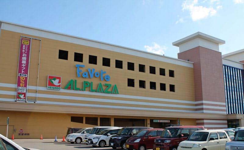 ファボーレ(富山市)の専門店部分の売り上げは目標を2割程度下回る