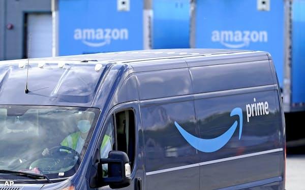 アマゾンの有料会員向けセール「プライムデー」では中小企業の売上高が大きく伸びた=AP
