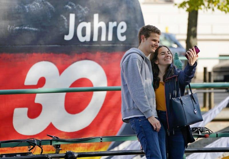 30年間でドイツの国際的地位は飛躍的に高まった(独ポツダムの広場)