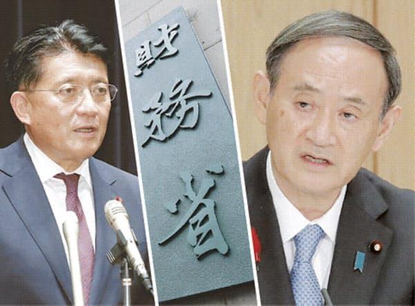 菅首相の指示を受け、平井デジタル相(写真左)はシステム予算の一元化に乗り出す