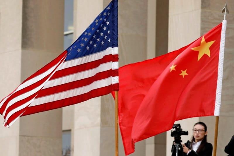 中国と米国の点差は5.5ポイントに縮まった=ロイター