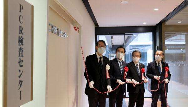 京都産業大学はPCR検査センターを開所した(19日、京都市)