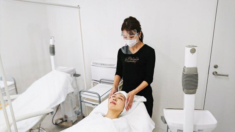 シャンソン化粧品を使ったエステの技術が学べる研修施設を設ける