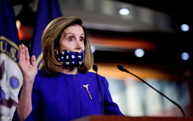 民主党のペロシ下院議長は下院選候補者にハッパをかけている=ロイター