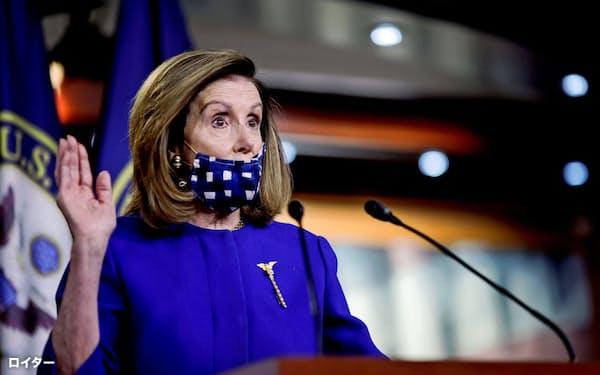 民主党トップのペロシ下院議長=ロイター