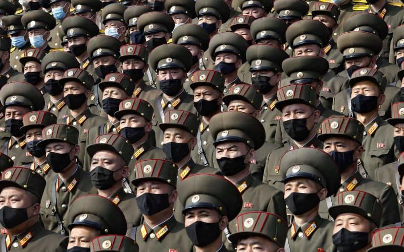 北朝鮮は国威発揚に力を入れる一方で、人権状況では厳しい批判を浴びる=AP