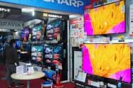 大型機種を中心に薄型テレビの販売は好調だ