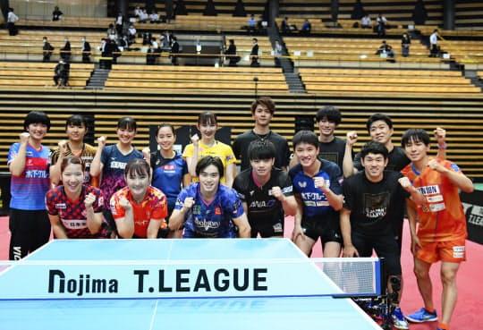 卓球のTリーグは実業団と法人化したチームが混在する=Tリーグ提供・共同