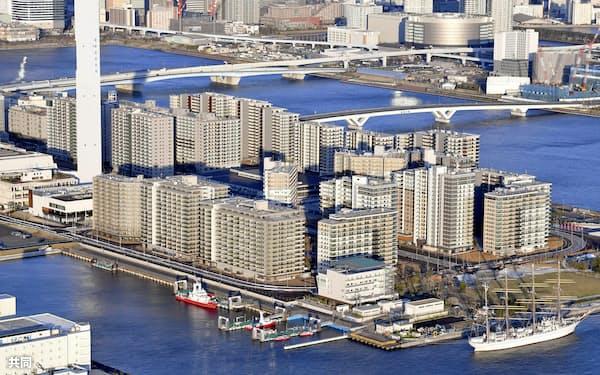 東京五輪・パラリンピックの選手村(東京都中央区)=共同