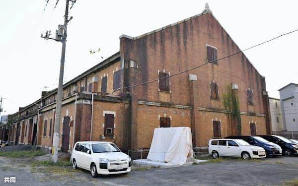 被爆建物「旧陸軍被服支廠」(20日、広島市)=共同
