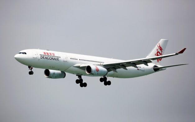 キャセイドラゴン航空は21日から運航を停止した=ロイター