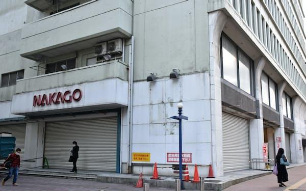 中合が入居していたビルの1、2階にスーパーや交流、展示スペースが期間限定でオープンする(福島市)