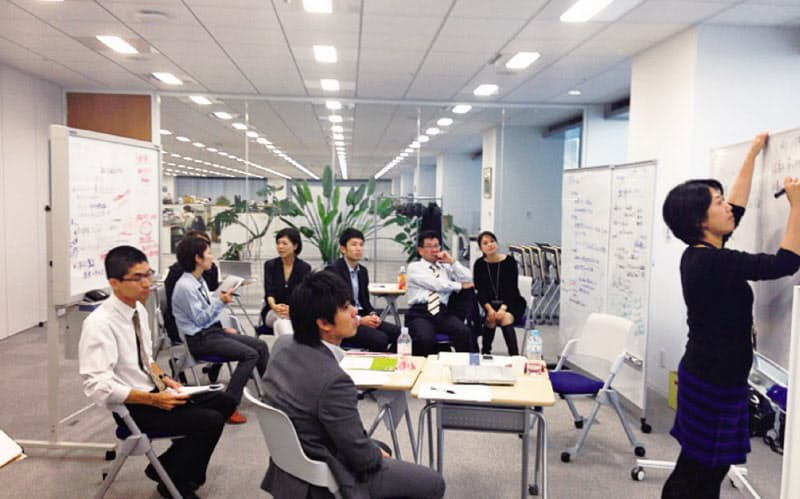 手を挙げて集まった社員が話し合い、副業制度が生まれた