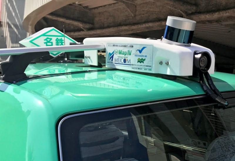 名鉄は営業走行するタクシーに専用機器を取り付け3次元地図データを作成する