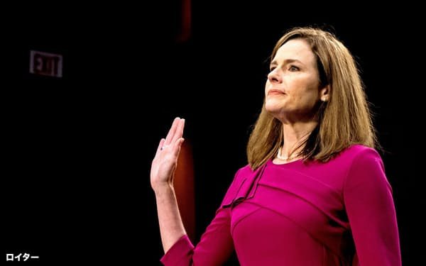 米最高裁判事候補のバレット氏は保守派として知られる(ワシントン)=ロイター