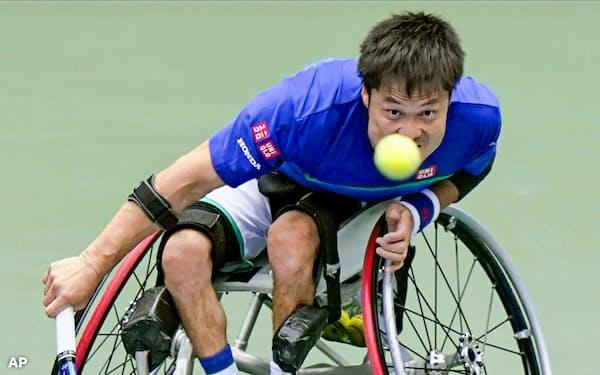 国枝はショットの改造が成功し、全米オープン決勝で若い相手に競り勝った=共同