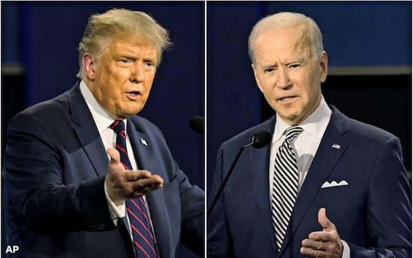 22日の討論会は米大統領選の両候補にとって最後の直接対決の機会に(写真は9月29日の第1回討論会)=AP