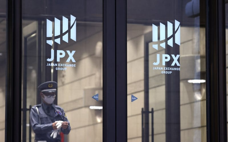 金融庁の立ち入り検査が入った東証(23日午前、東京都中央区)