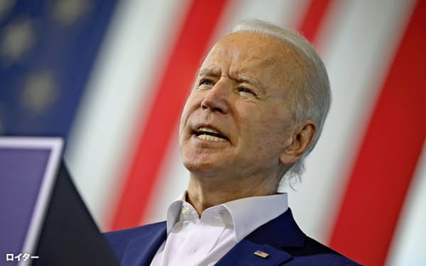 10月13日、フロリダ州でスピーチをするバイデン大統領候補=ロイター