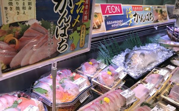 しゃぶしゃぶや焼き物なども提案する(23日、東京都江東区の「イオン東雲店」)