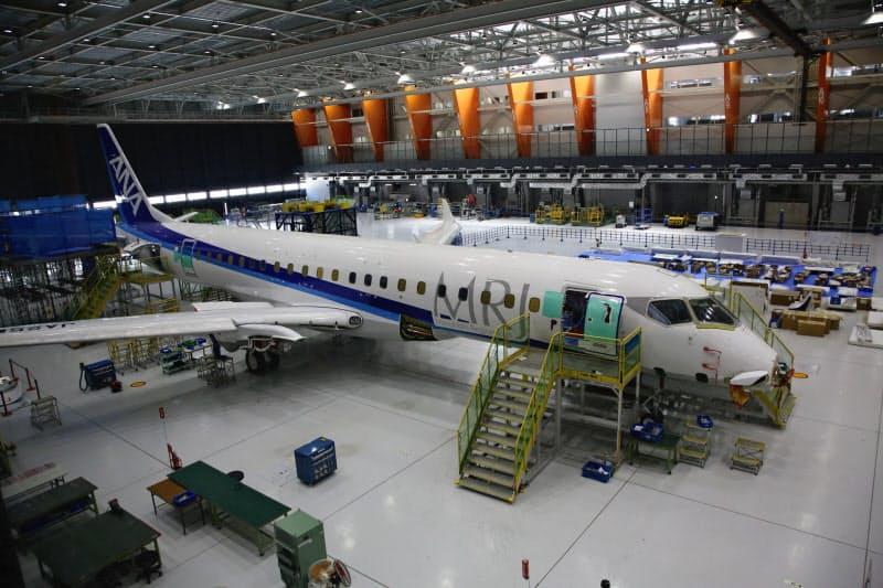 報道公開された製造中の機体(愛知県豊山町)