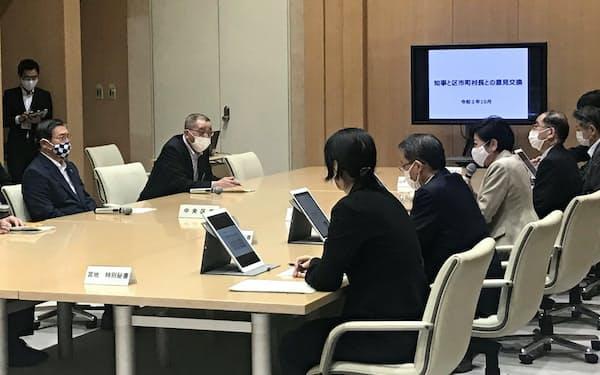 小池氏は地下鉄新線について「利便性が向上」と強調(都庁)