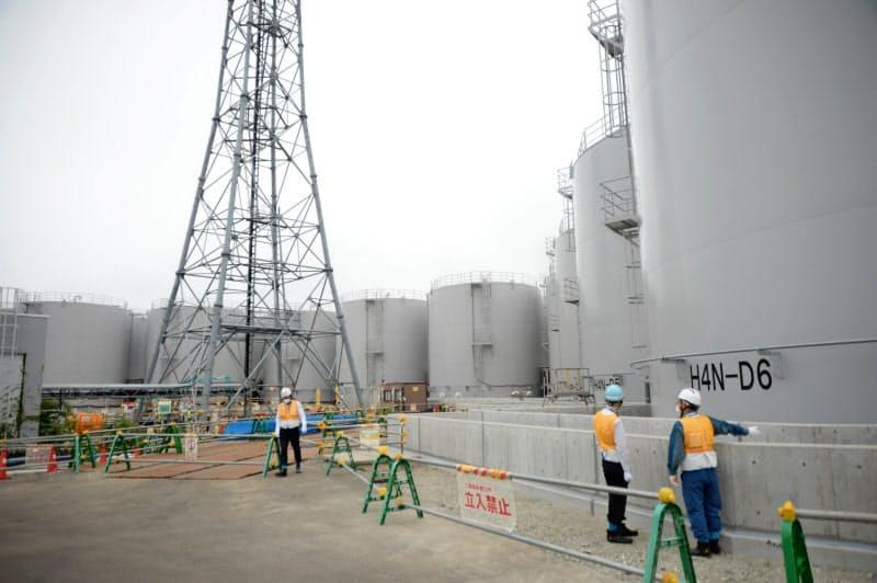 福島第1原発敷地内の処理水貯蔵タンクの増設は限界に近づきつつある