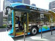東京駅と竹芝地区を結ぶ燃料電池バス