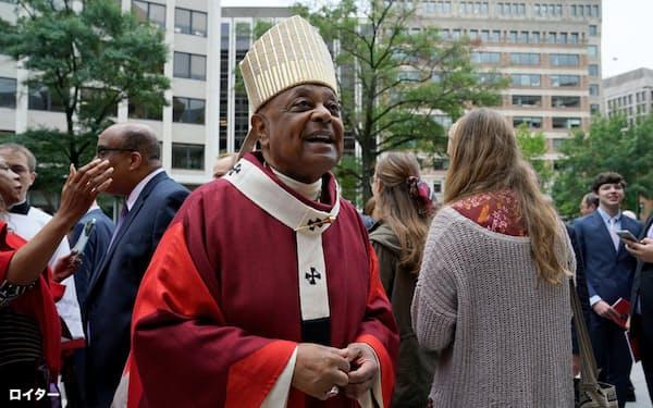 ウィルトン・グレゴリー大司教は人種差別の撤廃へ指導力を発揮してきた=ロイター