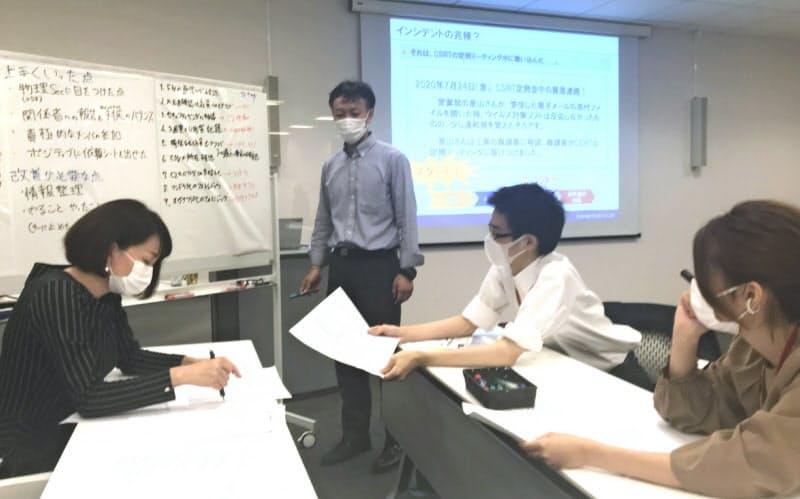 サイバー攻撃に対して適切な対策を打ち出していく、ラックの演習訓練(東京・千代田)