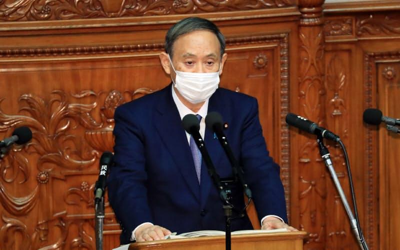 首相が初の所信表明演説 温暖化ガス「50年までにゼロ」