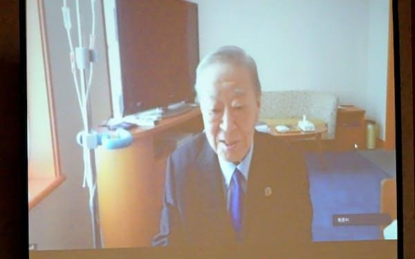 入院中の中西経団連会長は菅首相の温暖化方針を歓迎(写真は10月5日)