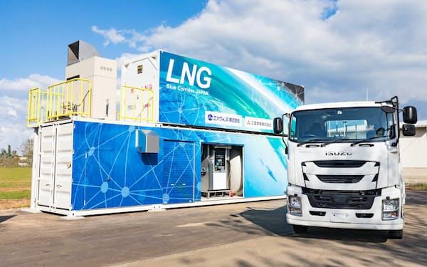 新たなスタンドは大型トラック1台分のスペースがあれば設置できる