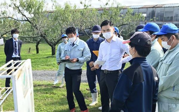 岩瀬農業高校でGAPの審査が行われた(福島県鏡石町)