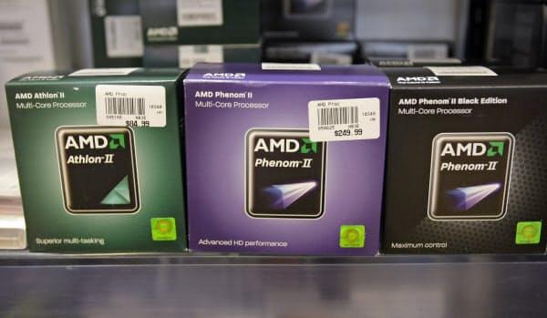 AMDは1969年に発足し、パソコン向けCPUなどで米インテルと競合している=AP
