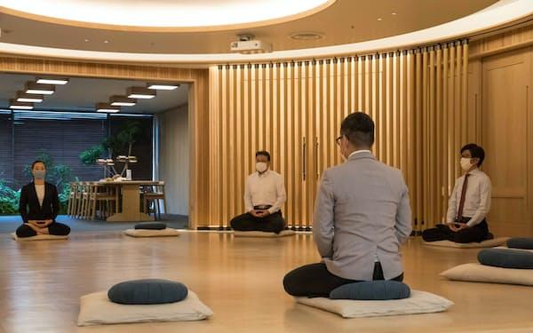 会員制のサロンに設けられた瞑想(めいそう)専用の部屋(東京都港区の青山ツリーハウス)